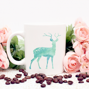 blue deer mug