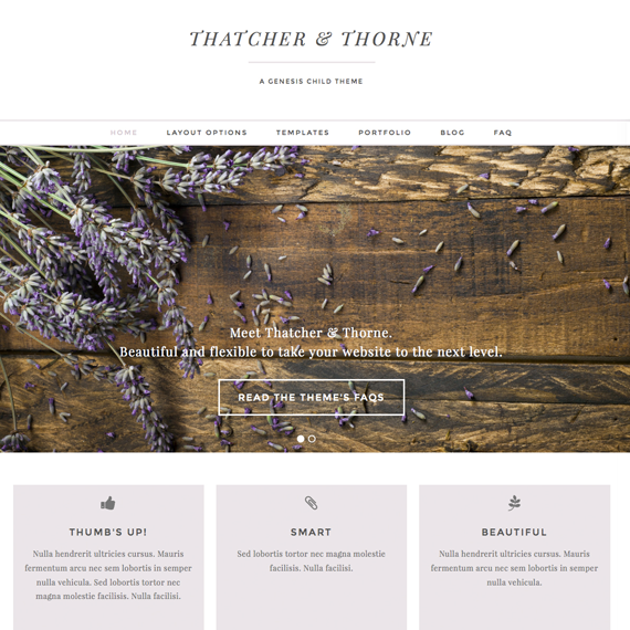 Thatcher & Thorne Wordpress Theme