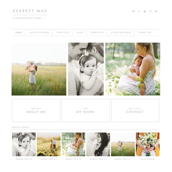 Everett Mae Wordpress Theme