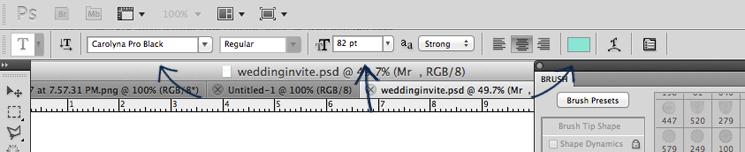 wedding invitation tutorial step two