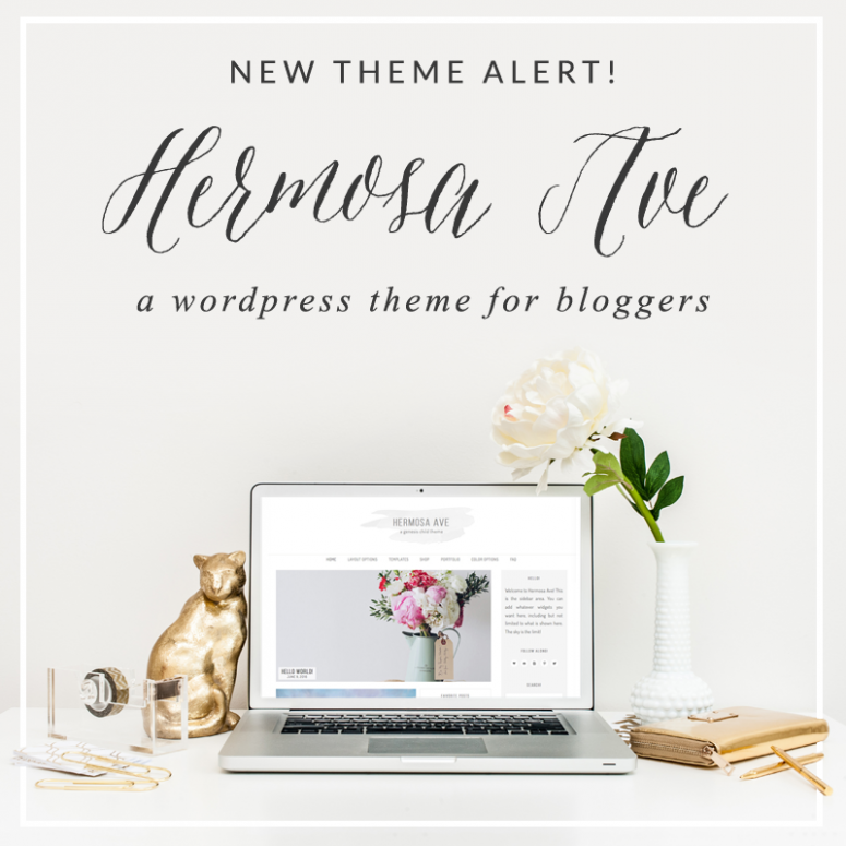 New WordPress Theme Alert! Welcome Hermosa Ave!