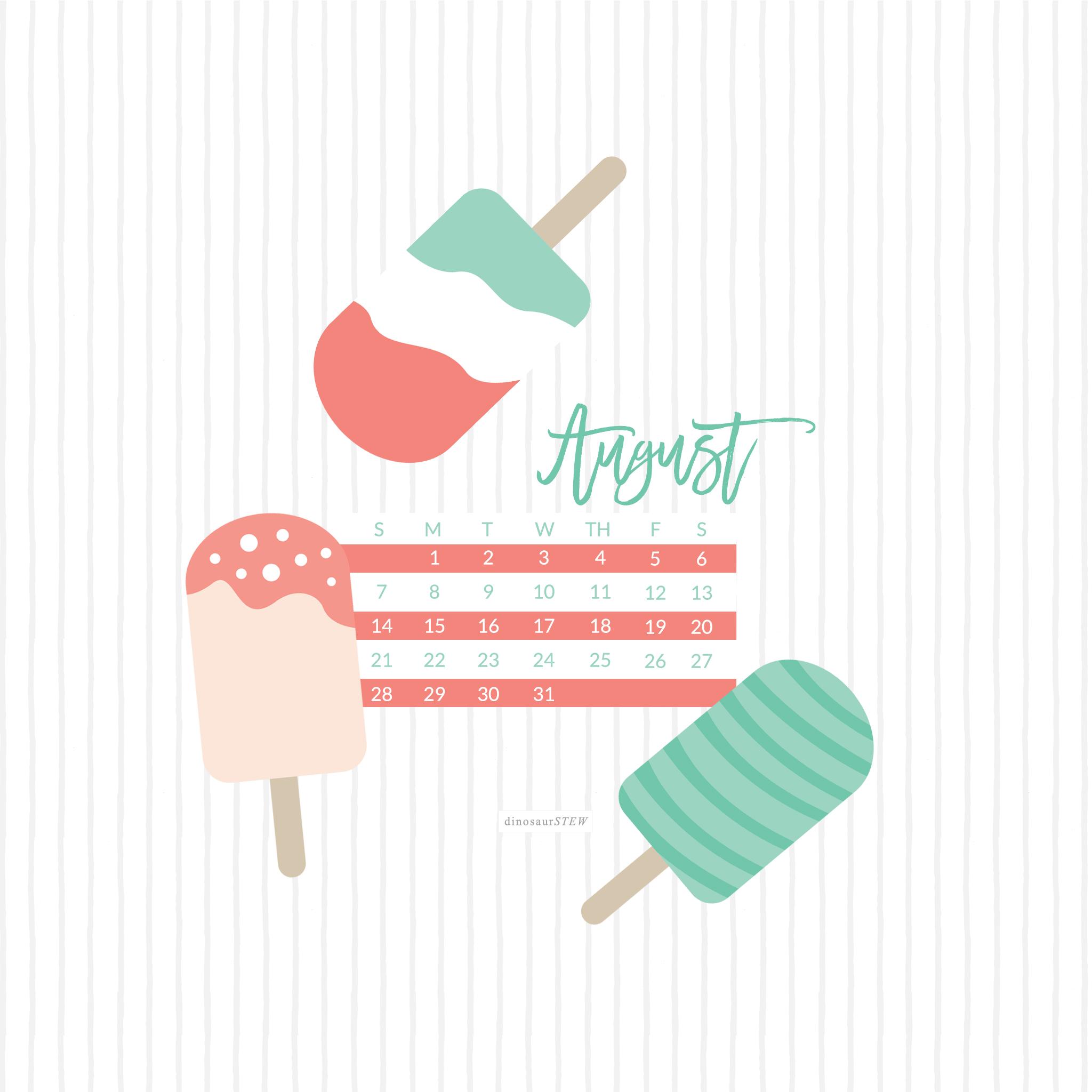 Virtual Calendar Wallpaper : Freebie august calendar wallpaper for devices