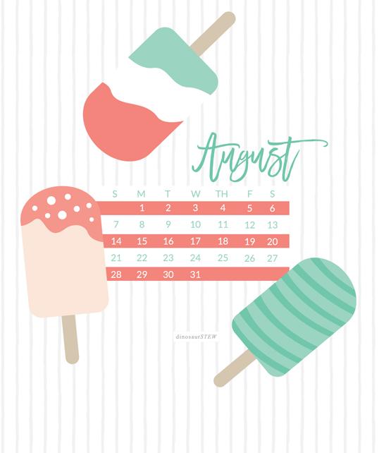 free august 2016 calendar wallpaper