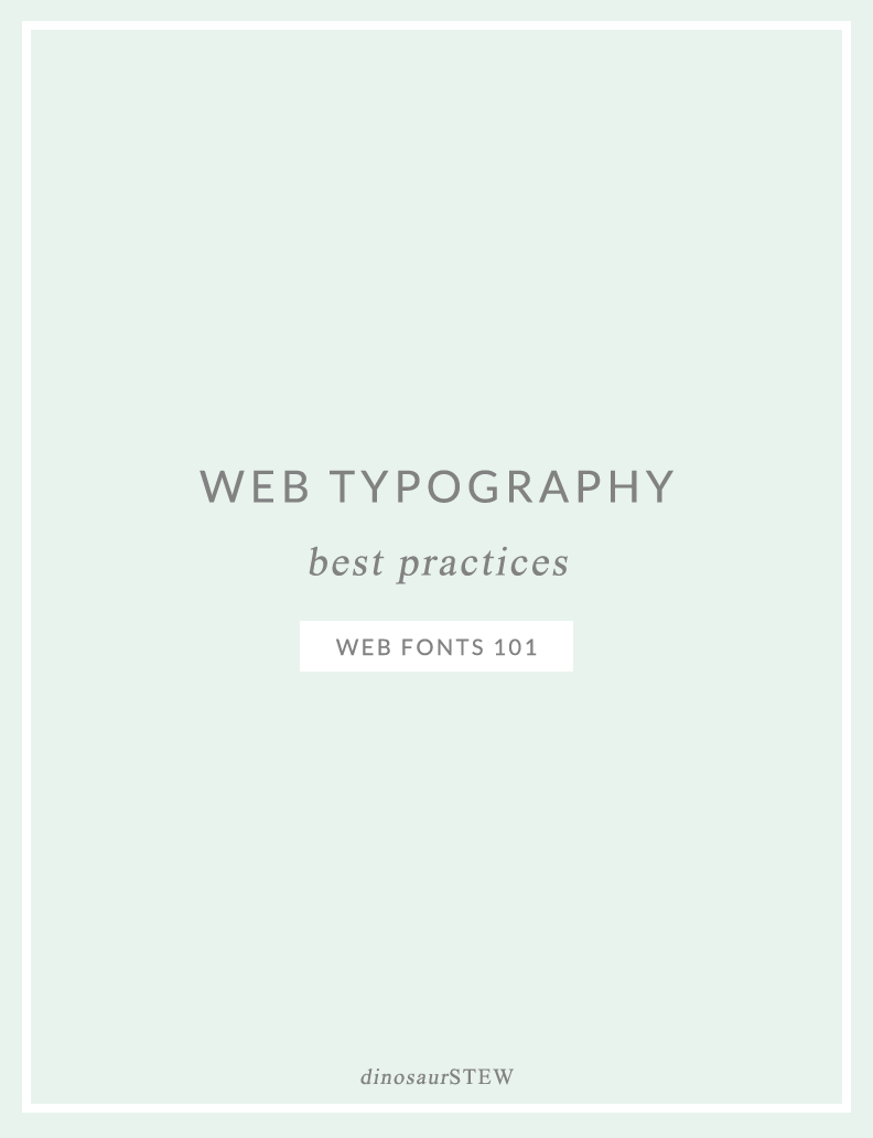 web typography best practices