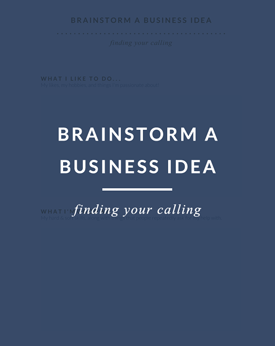 brainstorm a business idea worksheet