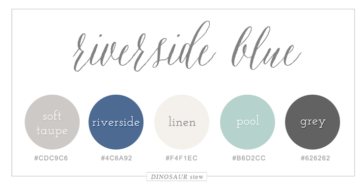 riverside blue color palette