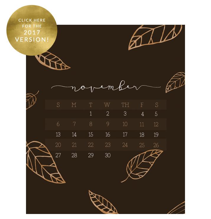 november calendar wallpaper