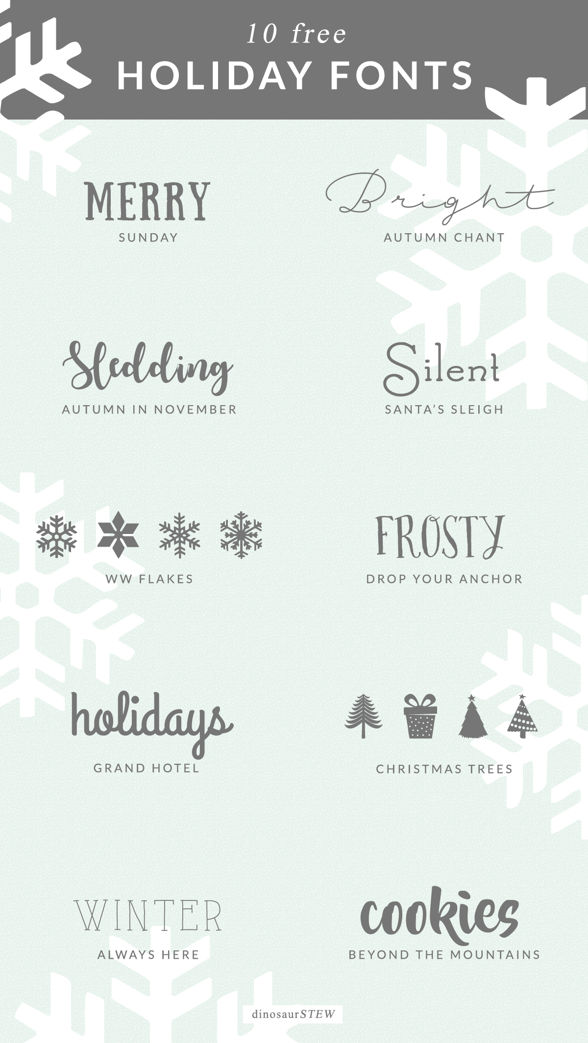 free holiday fonts