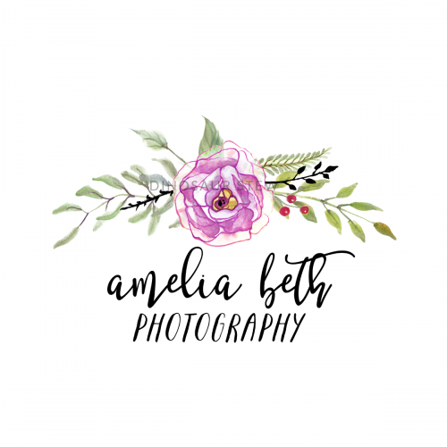 watercolor floral logo