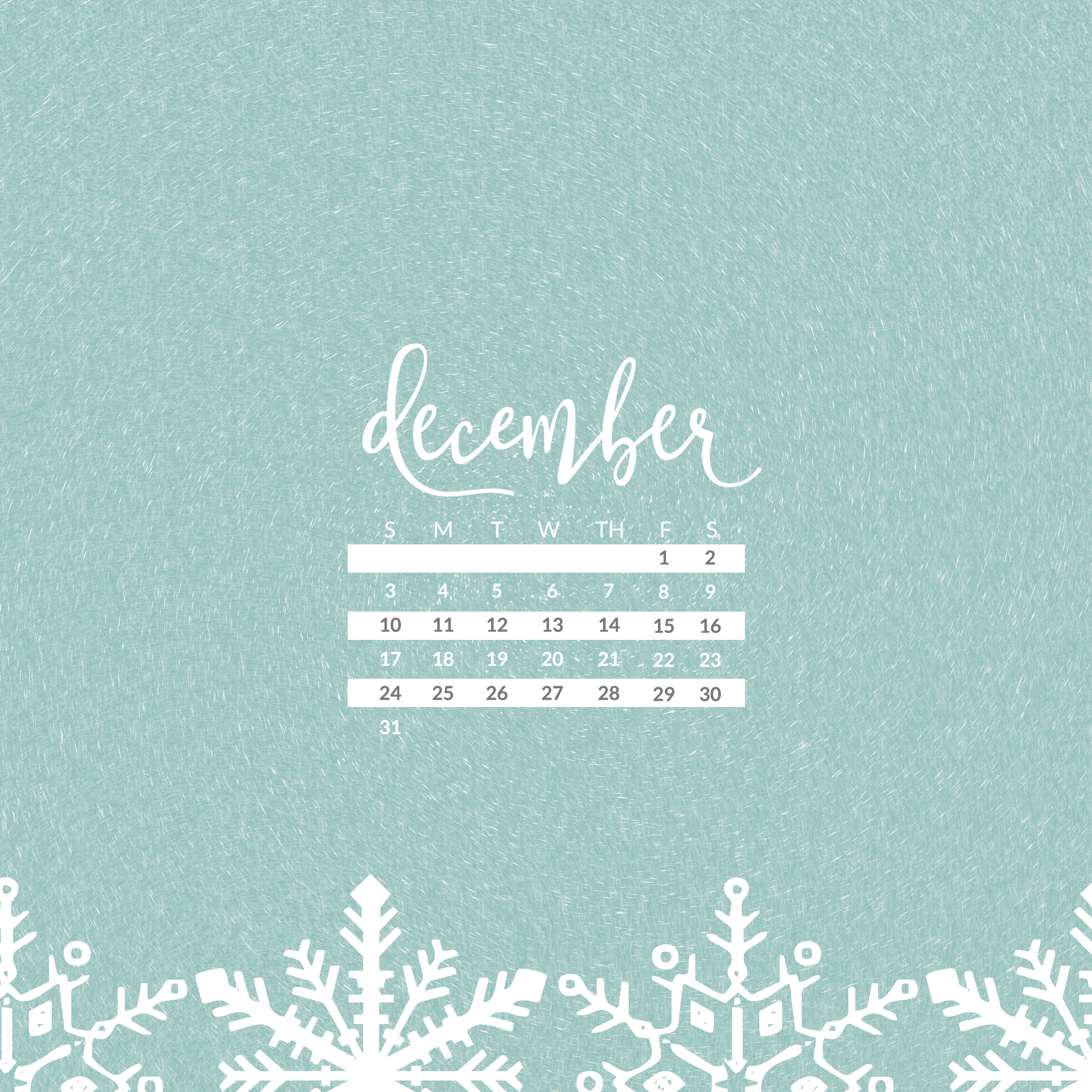 December 2017 Calendar Wallpaper - For Desktop & Mobile ...
