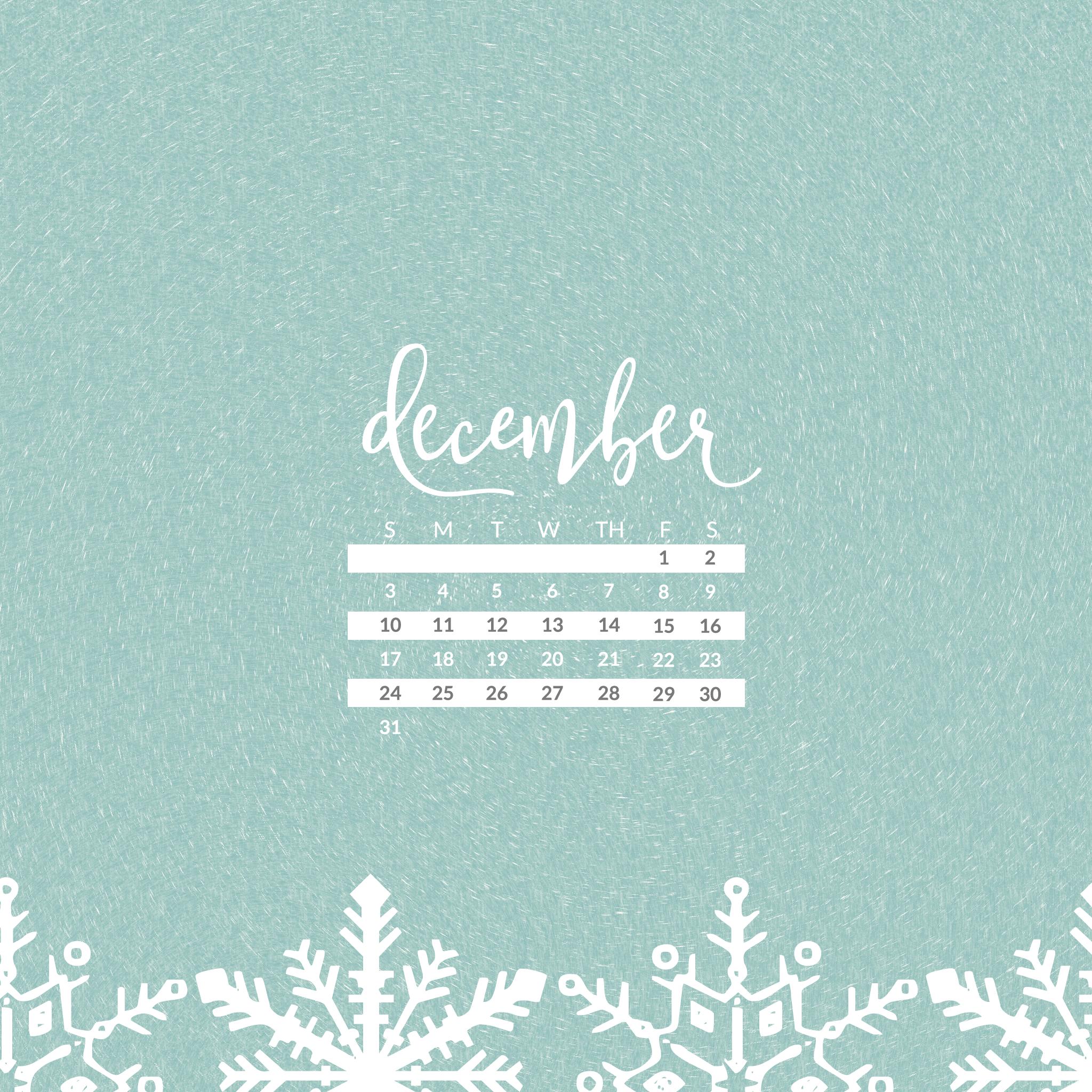 December 2017 Calendar Wallpaper - For Desktop & Mobile ...