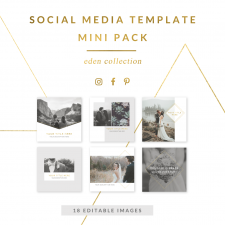 Eden Collection Mini Pack of Social Media Templates