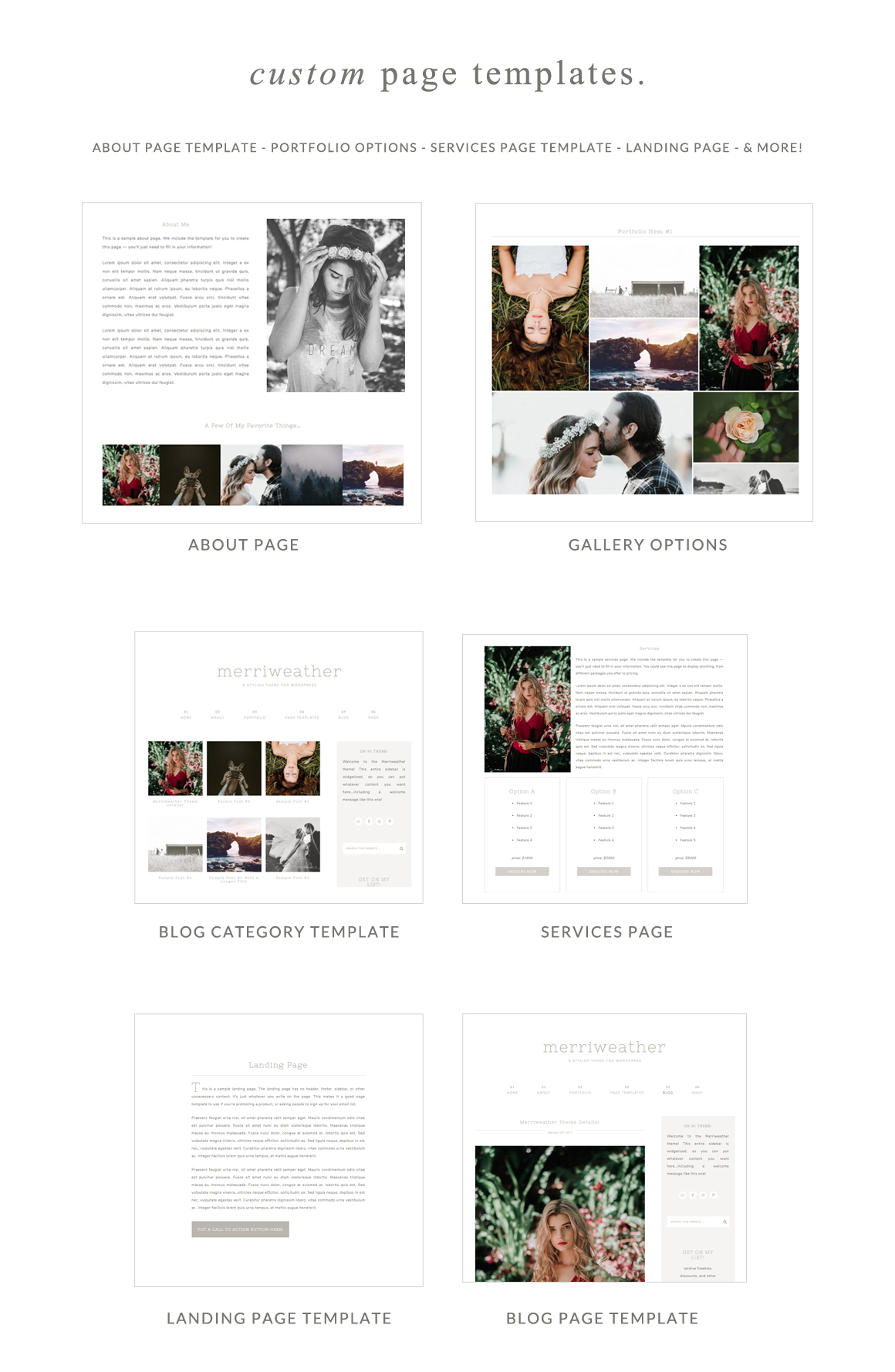 Merriweather Page Templates