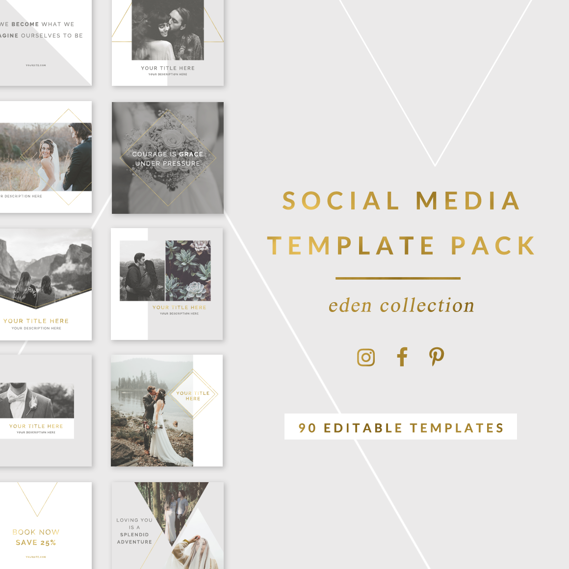 Social media templates for photographers editable templates for instagram photoshop facebook for Social media templates psd