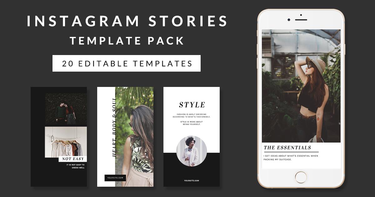 best instagram story ideas 20 chic stylish templates. Black Bedroom Furniture Sets. Home Design Ideas