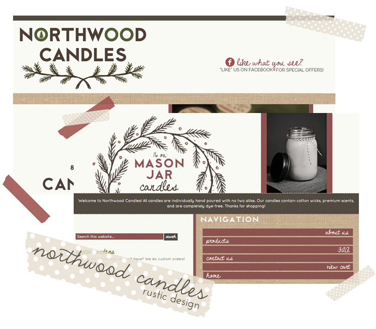 Northwood Candles Rustic Web Design