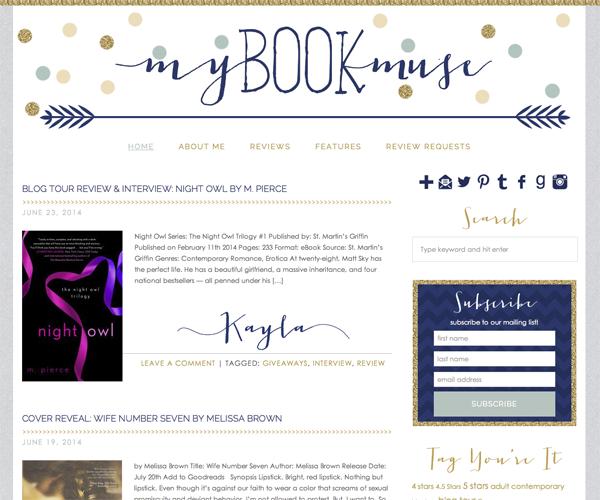 My Book Muse Design Screenshot