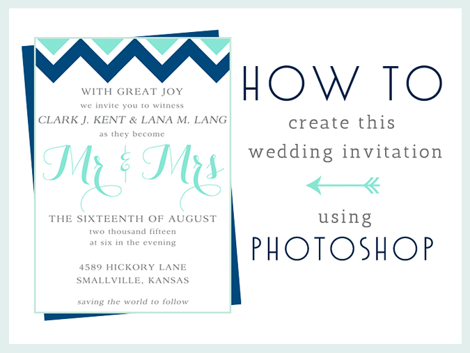 how to create a trendy wedding invitation in photoshop