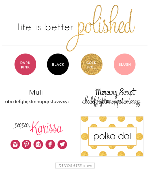 Life is Better Polished Mood Board