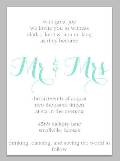 wedding invitation tutorial step four