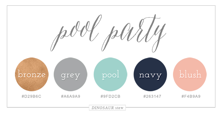 Bronze, Green, & Navy Color Palette
