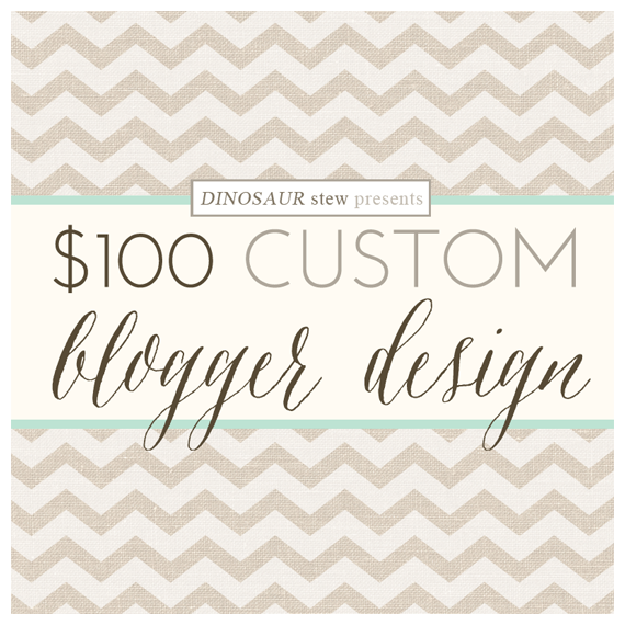 $100 Custom Blogger Design