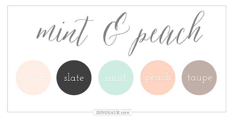 Mint & Peach Color Palette
