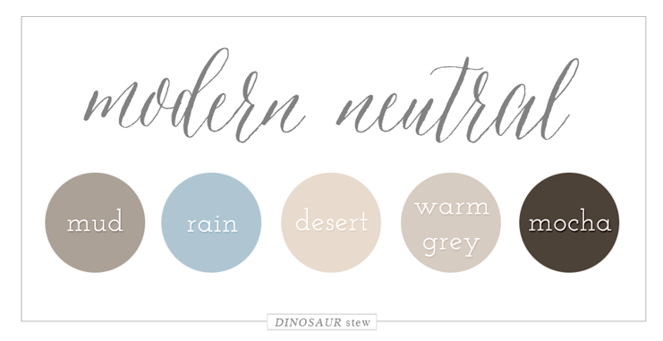 Modern Neutral Color Palette