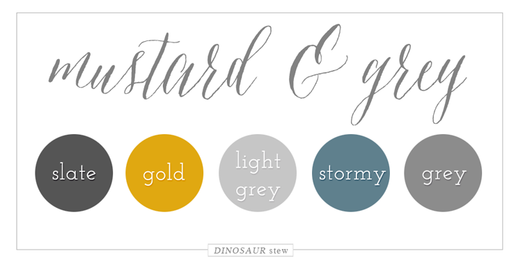 Mustard & Grey Color Palette