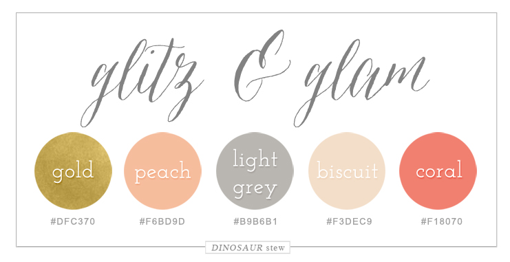 Peach, Coral, & Gold Color Scheme