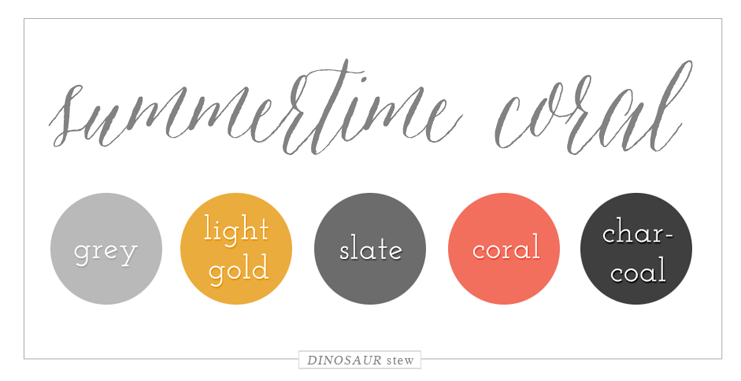 Summertime Coral Color Palette