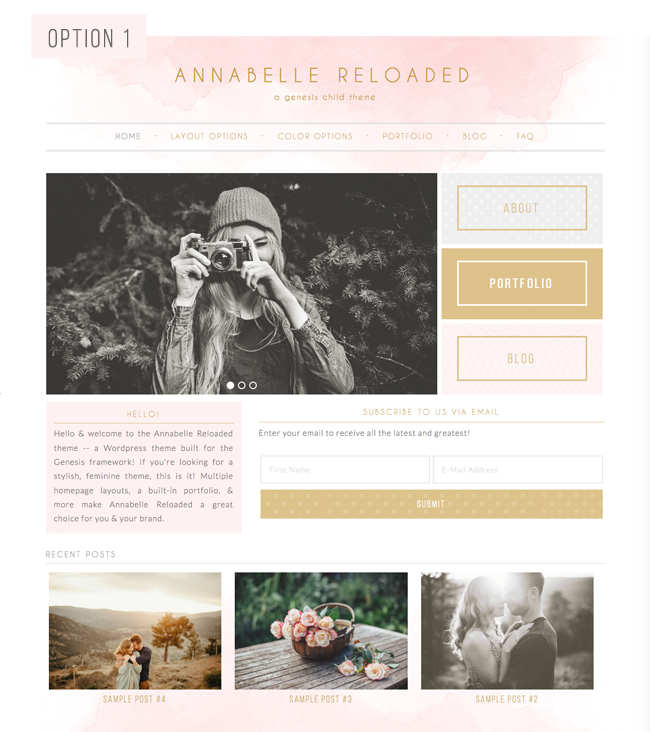 Annabelle Reloaded Theme Layout Option 1