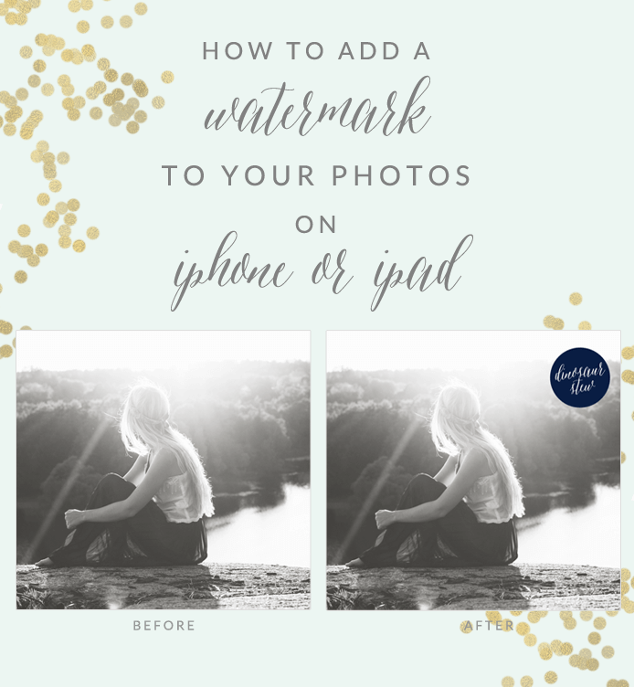 How To Add a Watermark to your Photos on iPhone or iPad