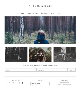 Antler & Rose Homepage Option B