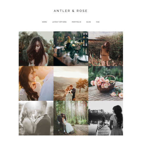 antler and rose genesis child theme for wordpress