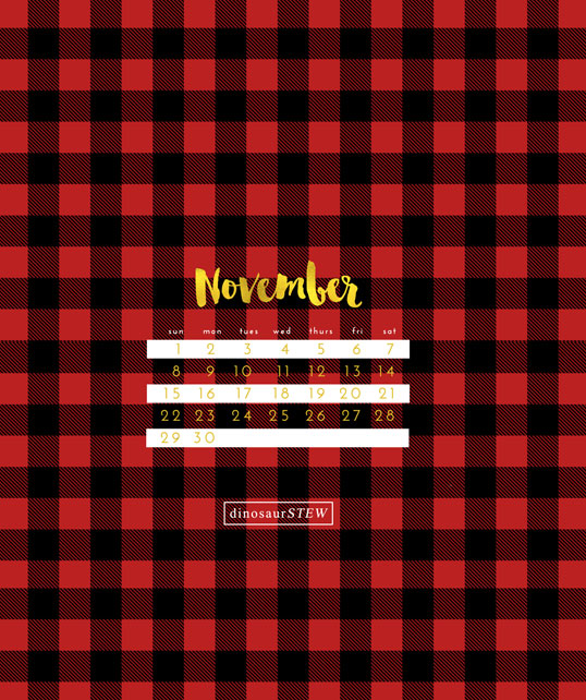 November 2015 Freebie: Calendar Wallpaper for Devices