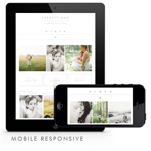 Everett Mae Theme Mobile Responsive