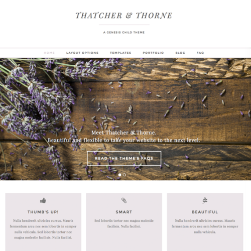 Thatcher and Thorne Wordpress theme