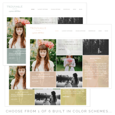 Trouvaille Theme Color Options