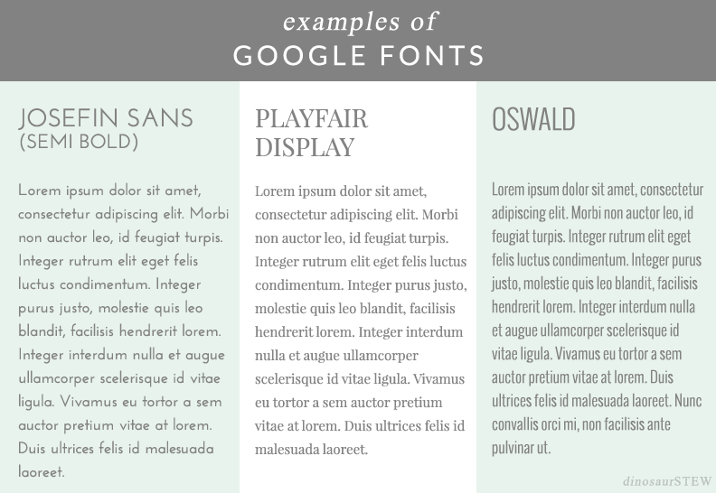 favorite google fonts
