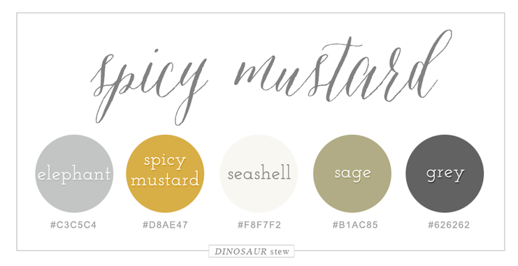 spicy mustard color palette