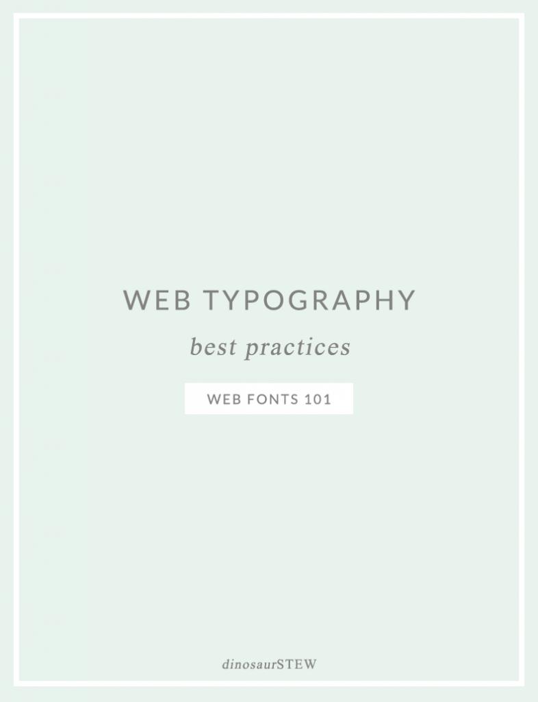 web typography best practices