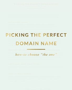Picking the Perfect Domain Name