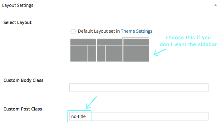 about page settings