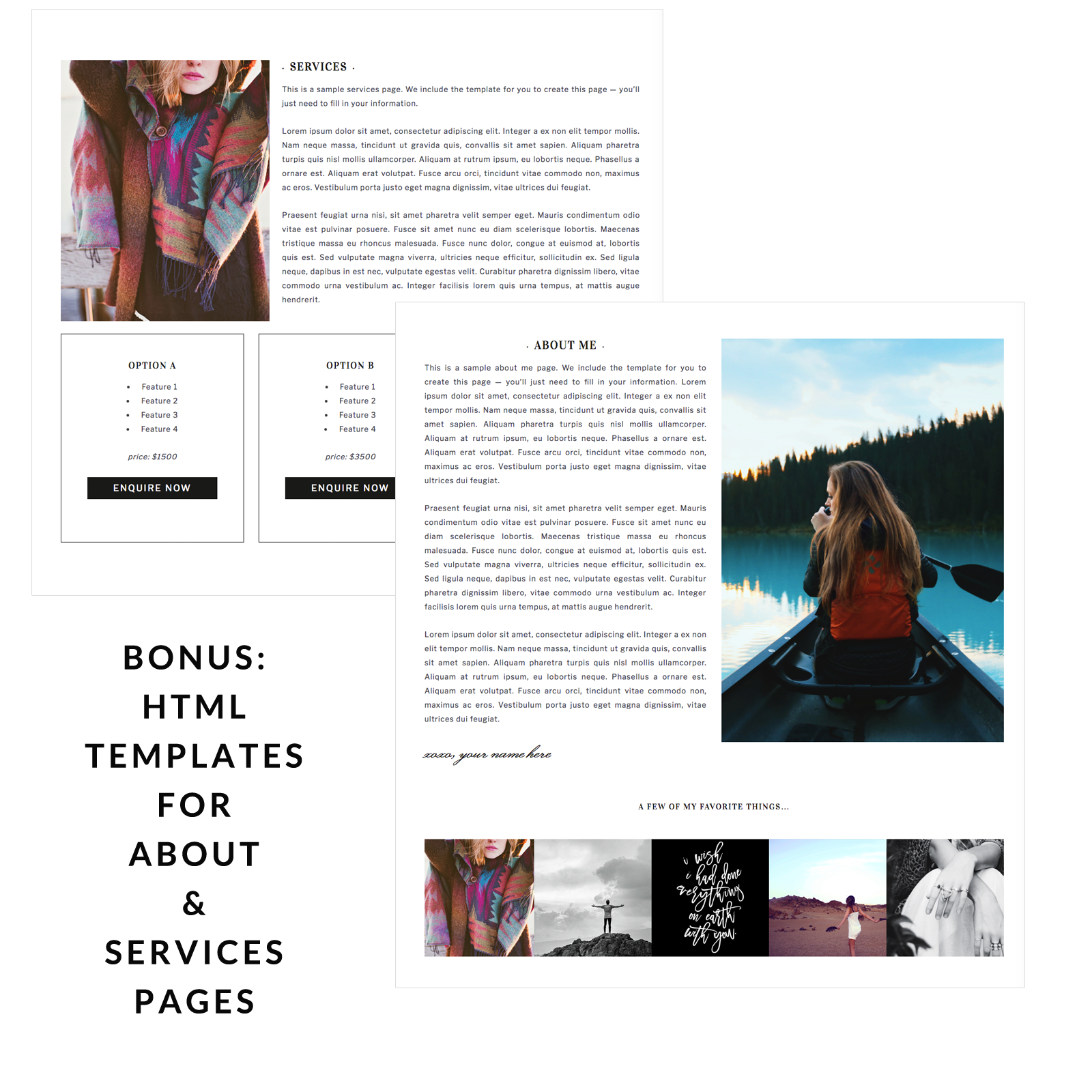 Wordpress Theme For Photographers Beaudry Theme - About page template