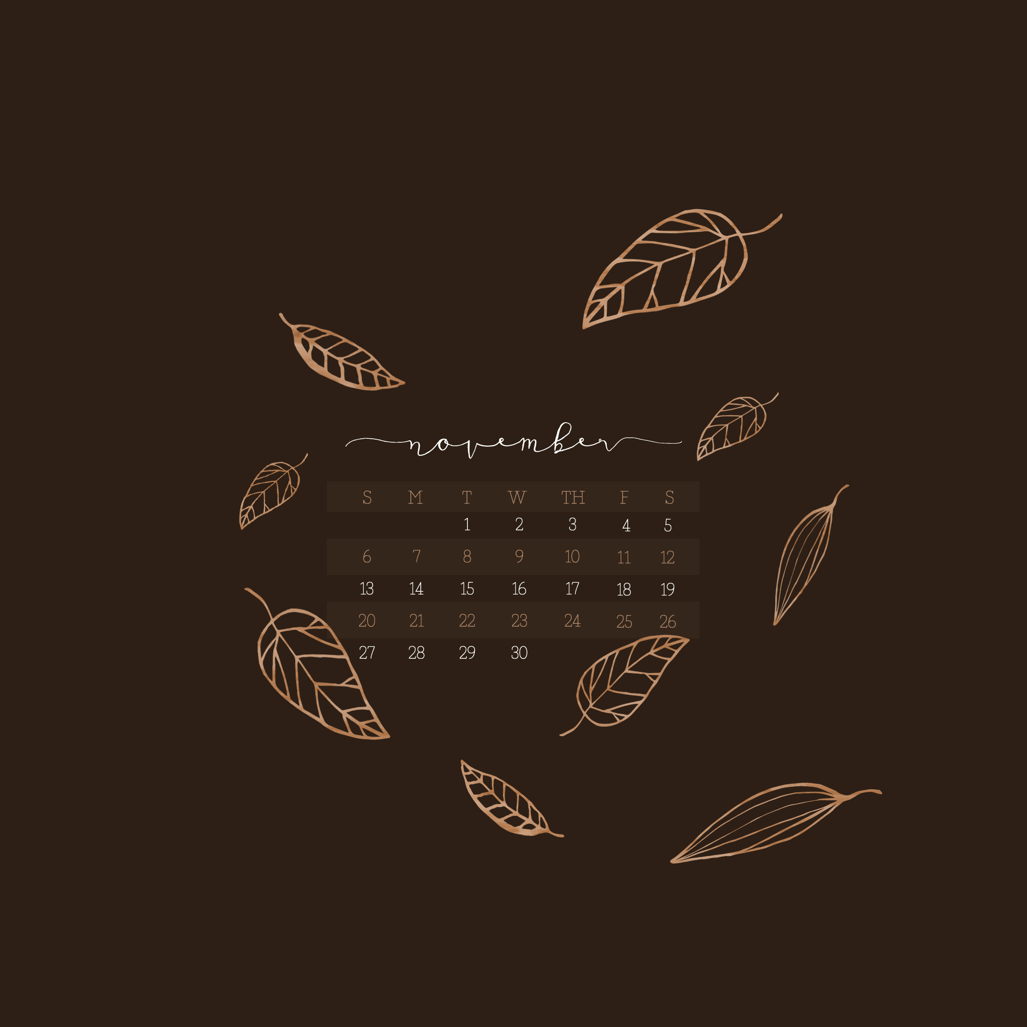 November Calendar Wallpaper For Iphone : November calendar wallpaper desktop mobile