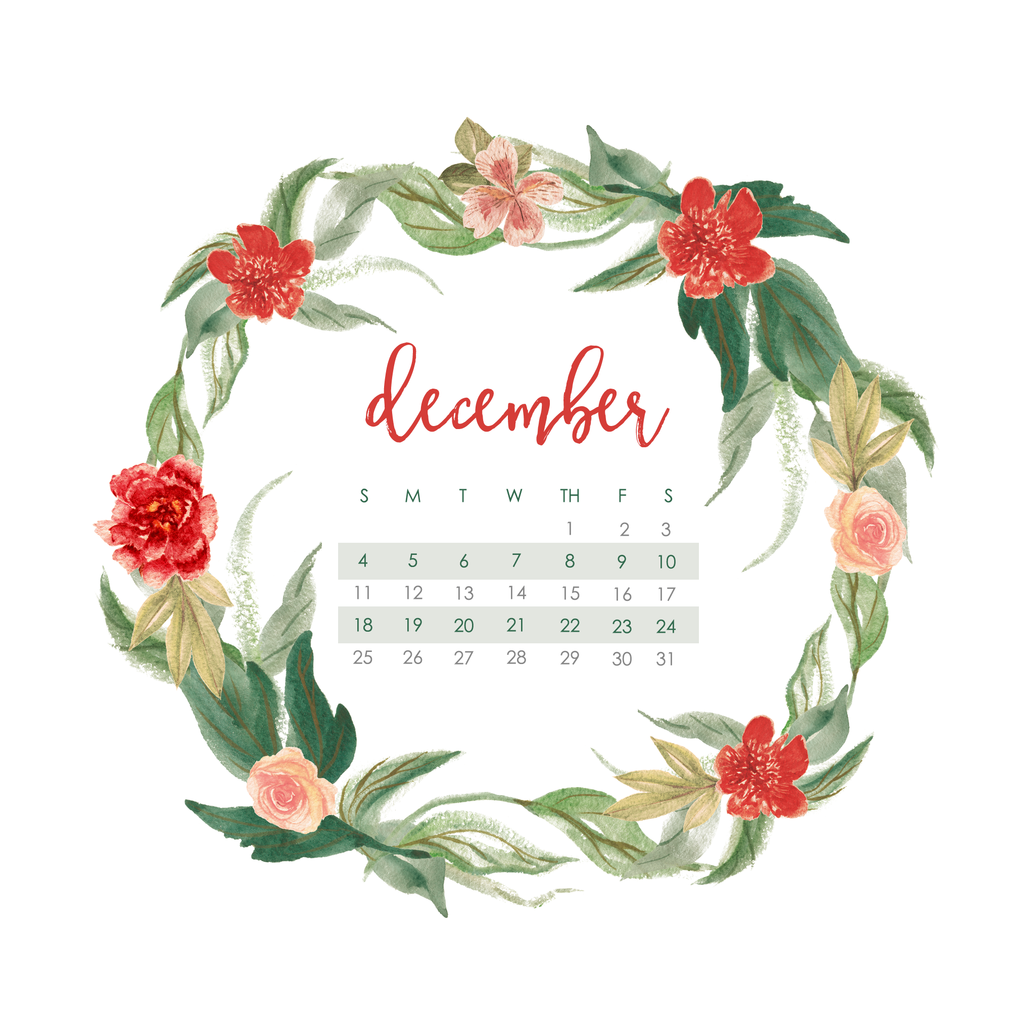 december calendar wallpaper - desktop & mobile calendar for 2016