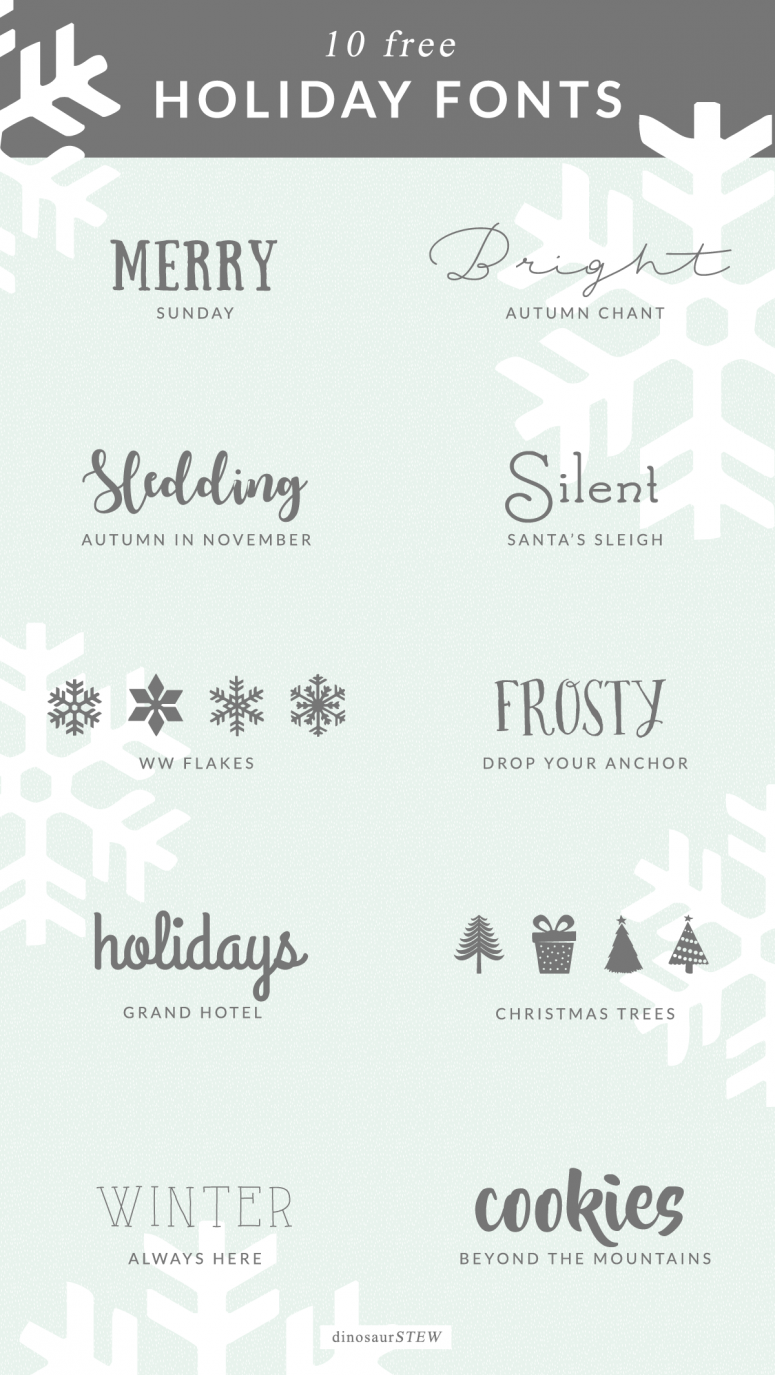 10 Free Holiday Fonts (That Don't Suck)