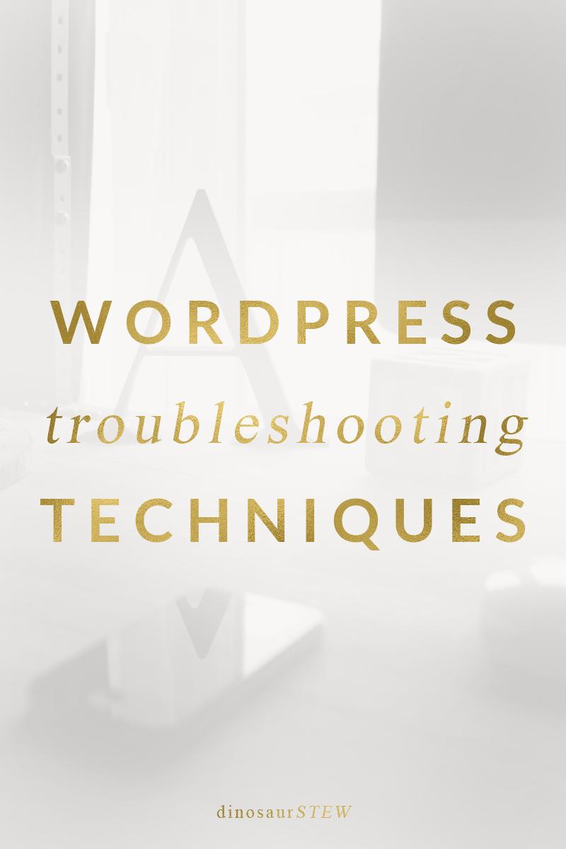 how to troubleshoot wordpress