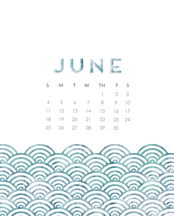 June 2017 Calendar Wallpaper